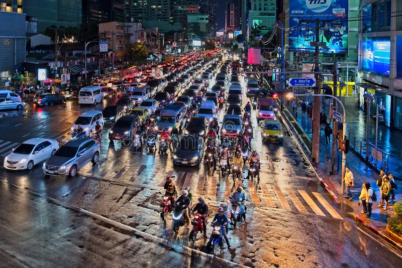Bangkok city at night royalty free stock photo