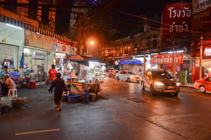 Bangkok city at night stock photo