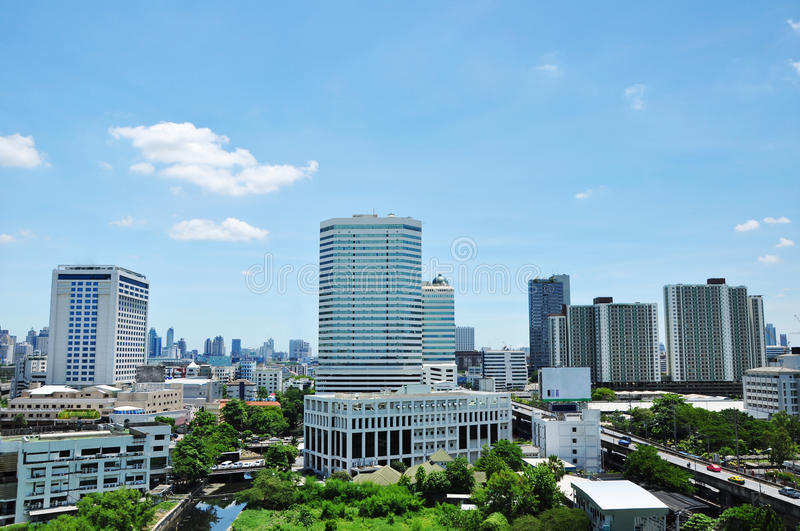 Download Bangkok city scape stock photo. Image of tree, view, building - 14866888