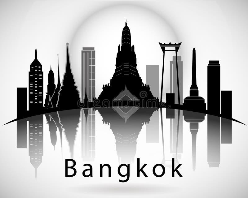 Bangkok City Skyline vector illustration