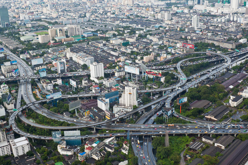 Bangkok City View From The Buildings Editorial Stock Photo