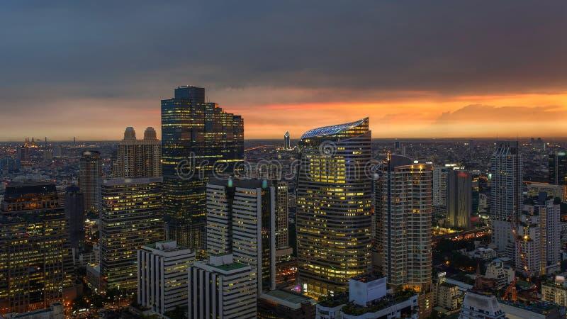 Bangkok Citysacpe , The colorful of the city. (Thailand stock image