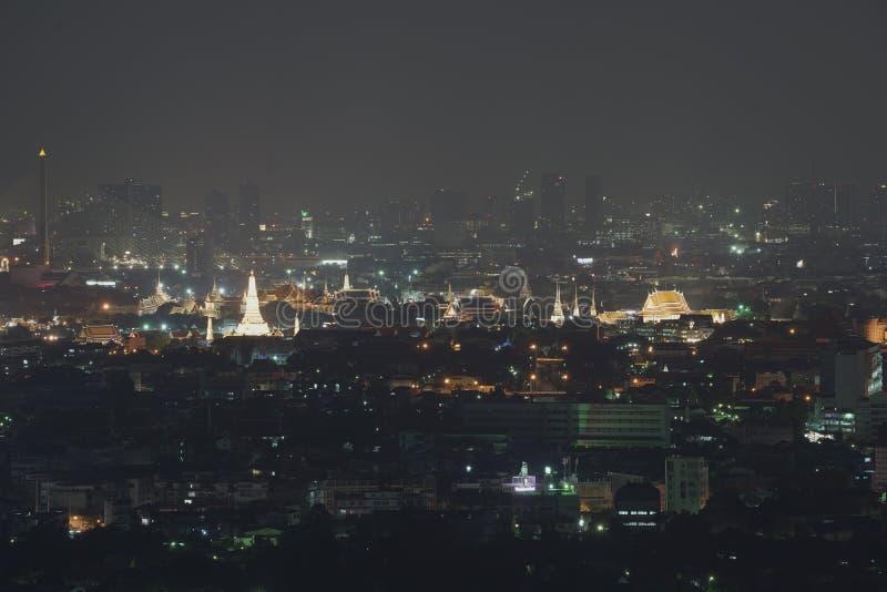 Bangkok cityscape in the middle of the Town, Tele shooting and close up to Wat Arun Ratchawararam Ratchawaramahawihan with royalty free stock photos