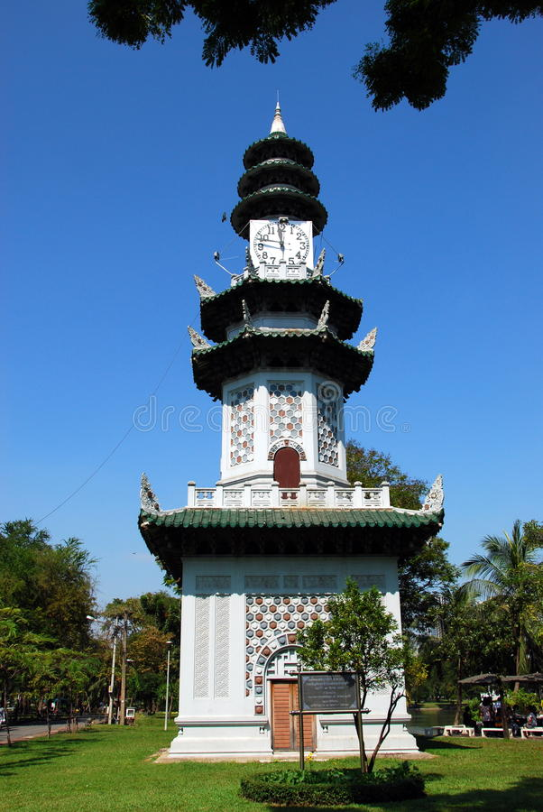 bangkok clocktower lumphini park Thailand obrazy stock