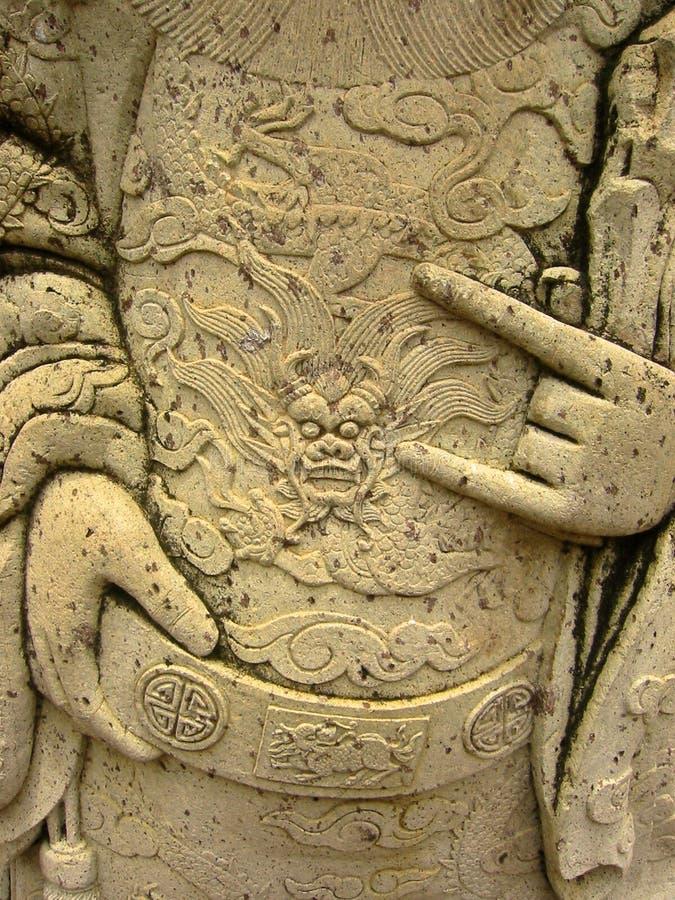 Bangkok cyzelowań sztuki posągi orientalny thail świątyni obrazy royalty free