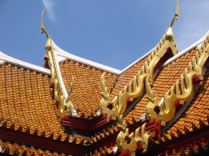 Bangkok Dachu Thailand Tajlandzkie świątynne Płytki Zdjęcie Stock