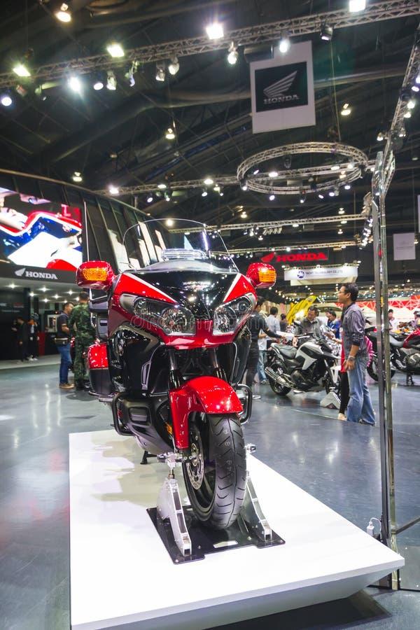 BANGKOK - 30 DE MARZO: Motocicleta de Honda en la exhibición en el 36.o salón del automóvil internacional de Bangkok el 30 de mar foto de archivo