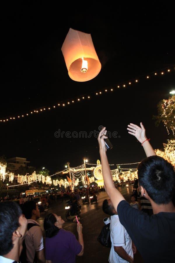 BANGKOK - 5 DEC: De Viering van de Verjaardag van de koning - Thailand 2010 stock afbeelding