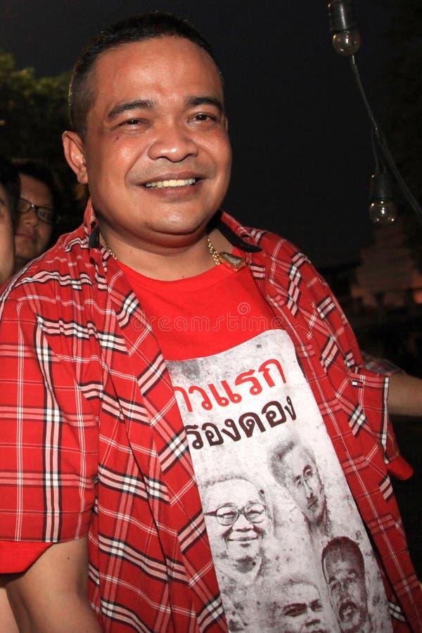 BANGKOK - 10. DEZEMBER: Rote Hemd-Protest-Demonstration - Thailand lizenzfreie stockbilder