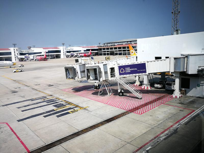 Bangkok Don Mueang Airport, Thailand, stock afbeeldingen