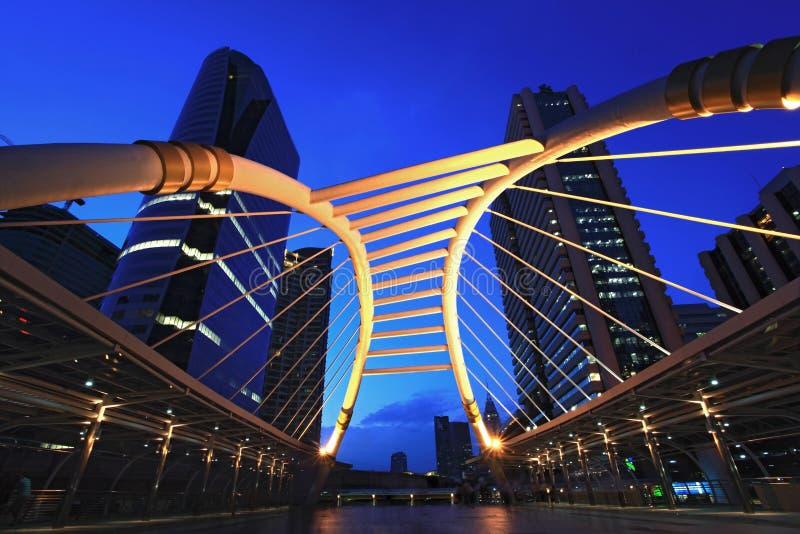 Download Bangkok downtown skywalk stock photo. Image of modern - 20267254