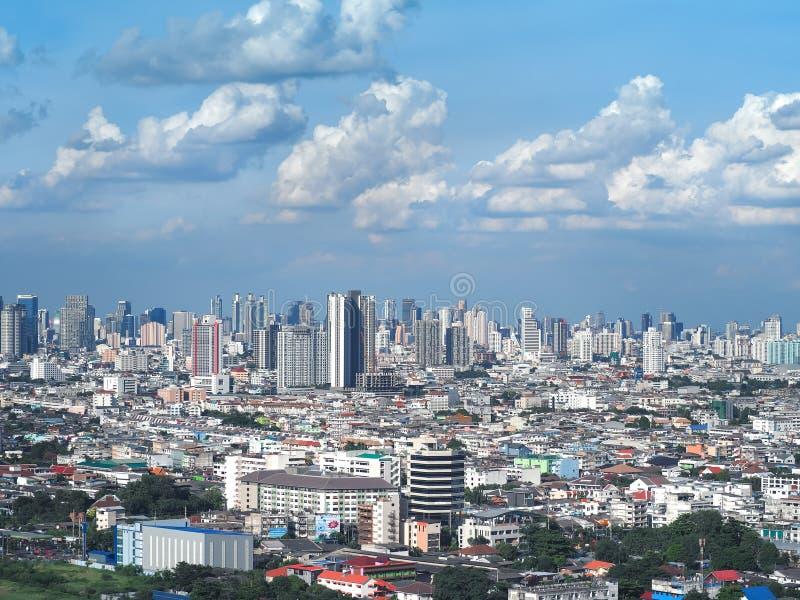 Bangkok drapacz chmur Pejzażu miejskiego widok Bangkok nowożytny biurowy biznesowy budynek zdjęcie royalty free