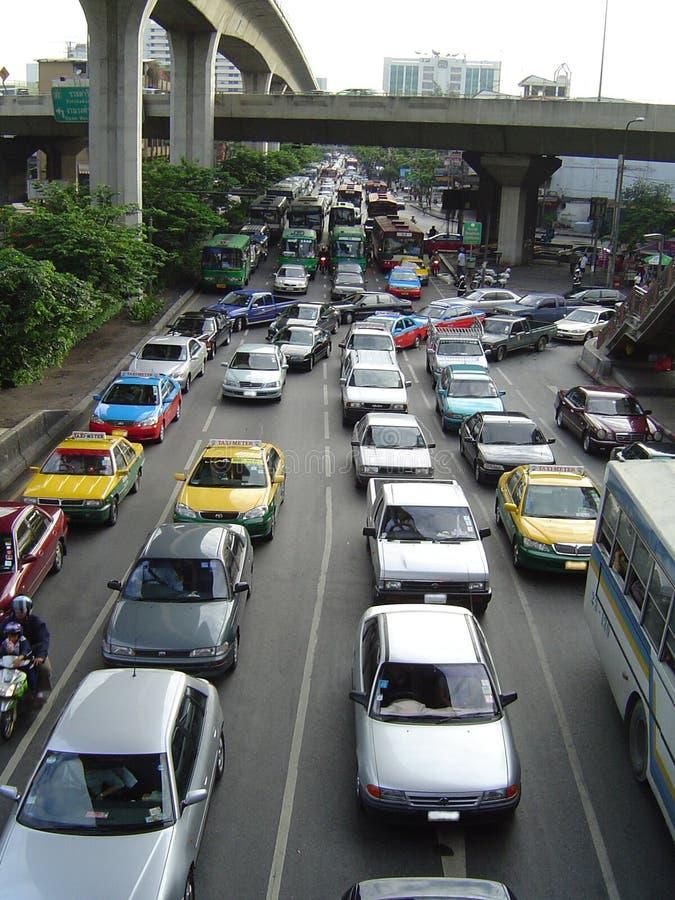bangkok driftstopptrafik arkivbilder
