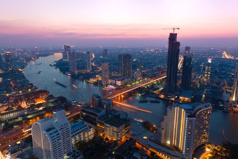 Download Bangkok at dusk stock image. Image of downtown, urbanscape - 17731135