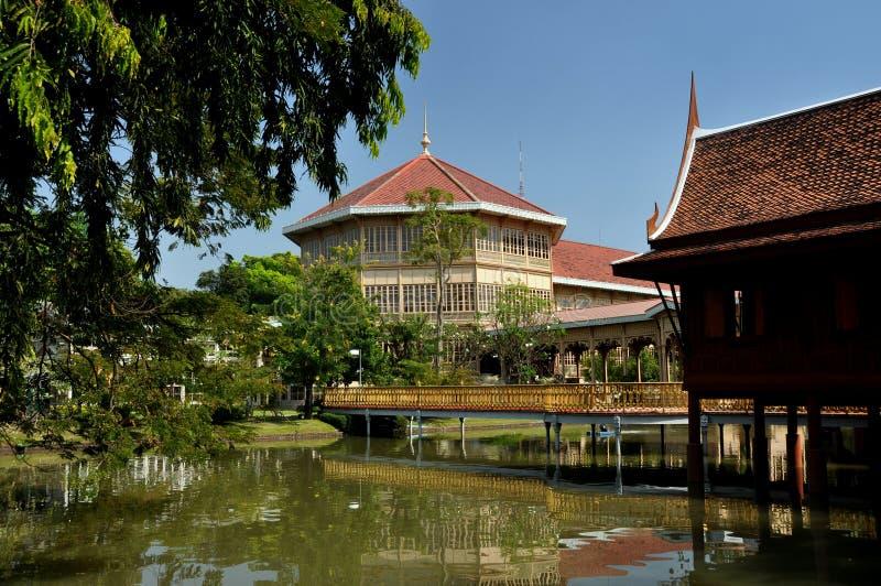 bangkok dworu Thailand vimanmek zdjęcie stock