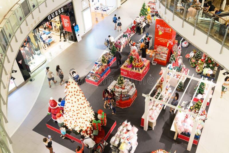 Bangkok-Einkaufszentrum für Weihnachten lizenzfreie stockbilder