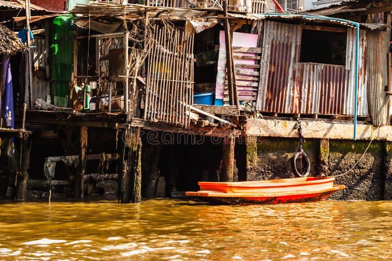 Bangkok-Elendsviertel stockfotos