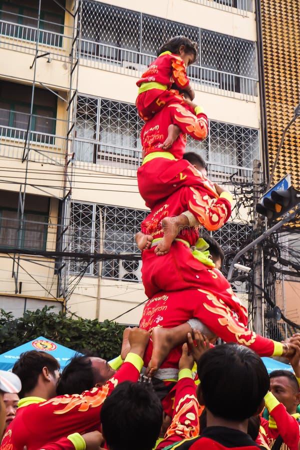 Bangkok, 16 February, 2018 – Thailand`s biggest Chinese New Year celebration in Bangkok`s Chinatown on Yaowarat Road, with royalty free stock photos