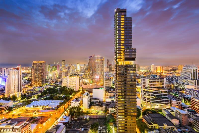 Bangkok finansiellt område royaltyfri fotografi