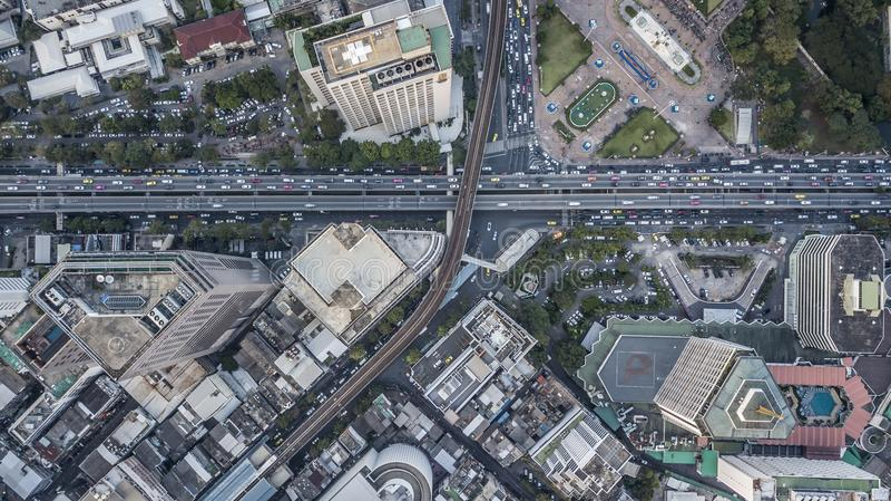 Bangkok flyg- fotografi royaltyfri foto