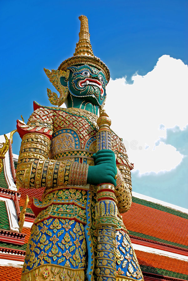 bangkok garand giganta strażnika pałac obraz royalty free