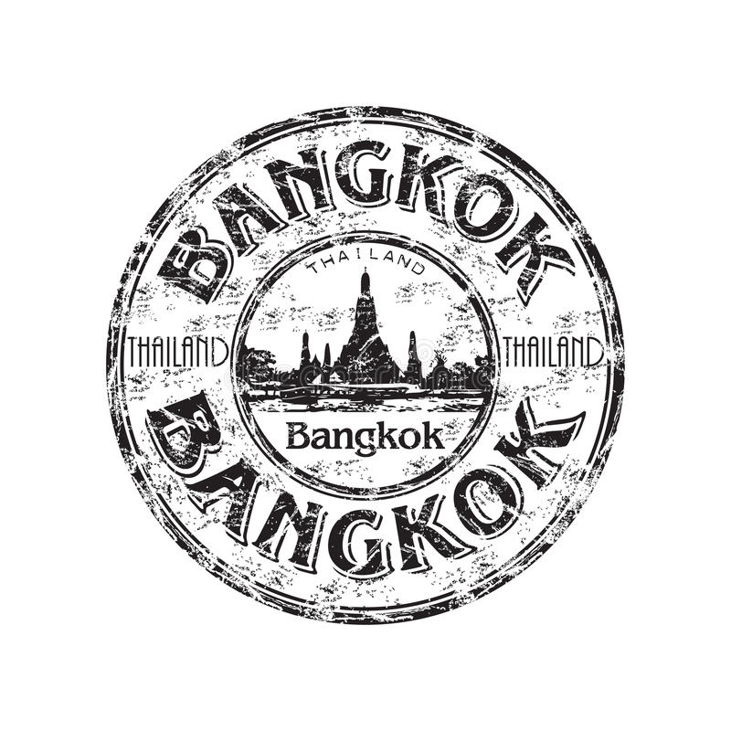 Bangkok grunge Stempel stock abbildung