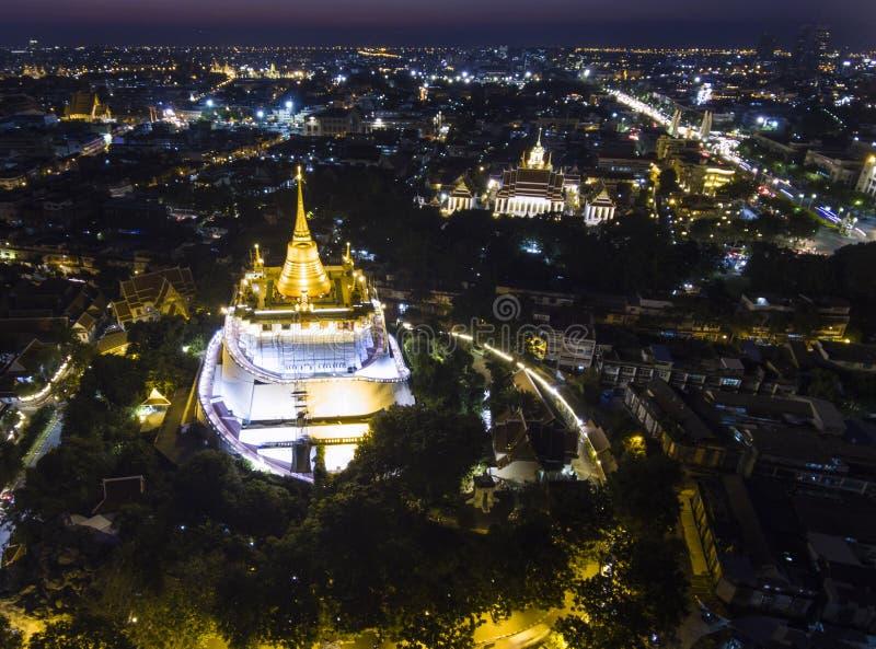 bangkok guld- berg arkivfoton