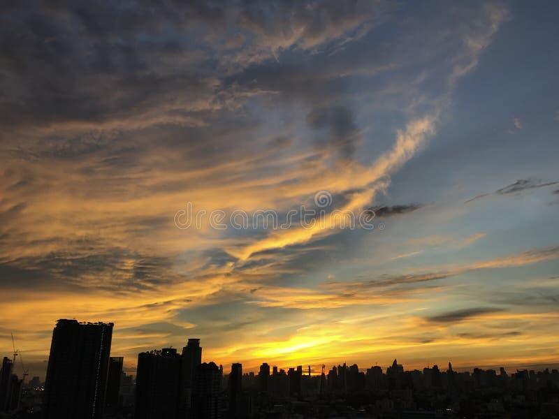 Bangkok horisont arkivfoton