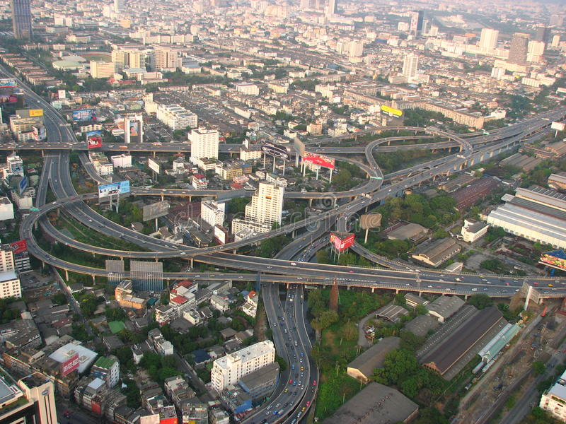 bangkok huvudvägar thailand arkivbilder