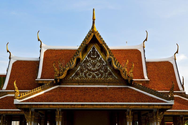 Bangkok i färgerna för tempelThailand abstrakt begrepp arkivfoton