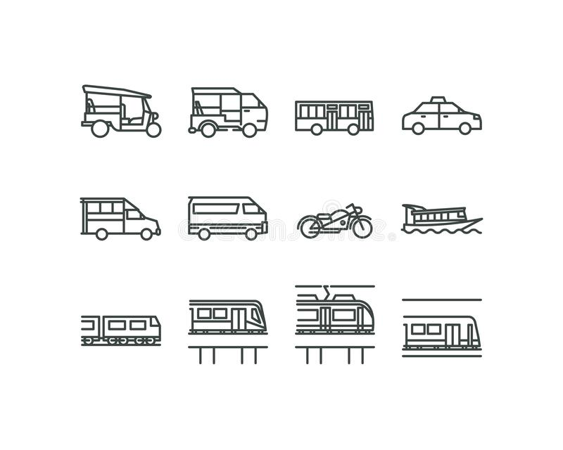 Bangkok jawny transport 001 ilustracja wektor