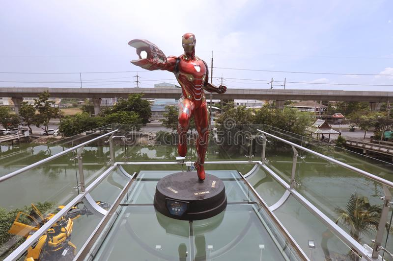 RONMAN Figure Model  1:1 SCALE on display at Robot Dessert Cafe royalty free stock photos