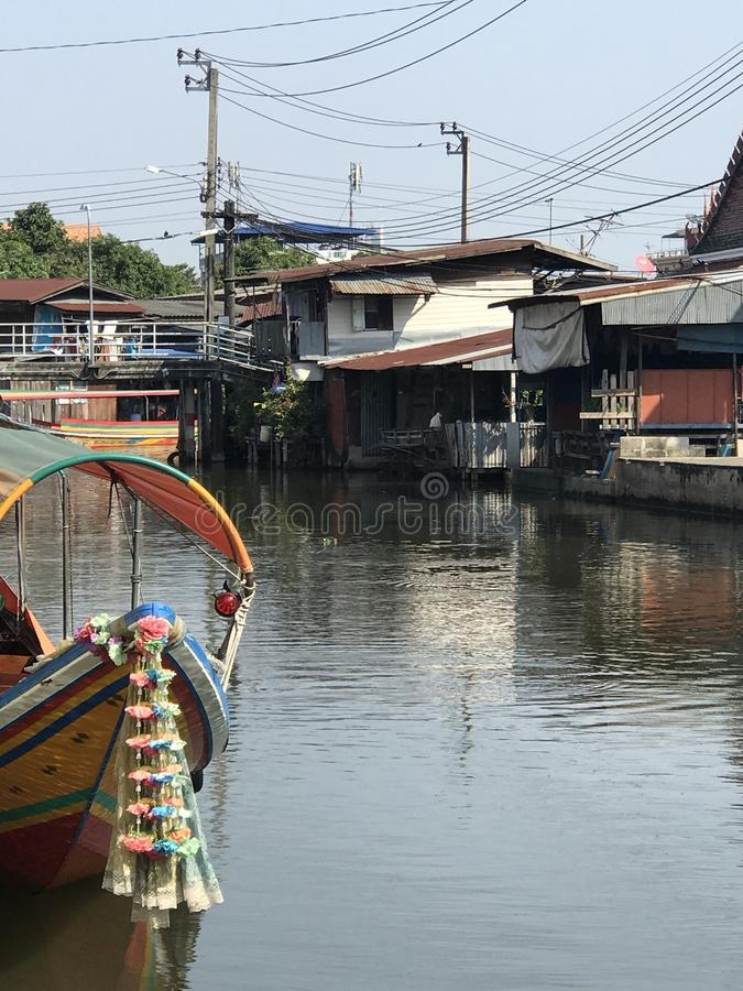 Bangkok kanał obraz royalty free