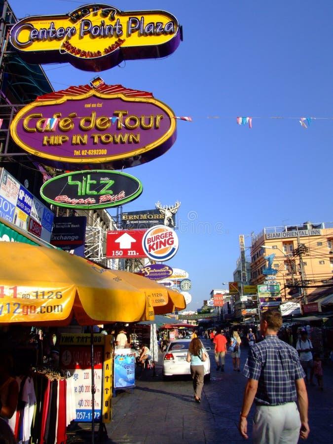 bangkok khaosarn droga Thailand obrazy stock