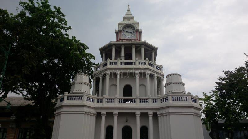 Bangkok klockatorn royaltyfri fotografi