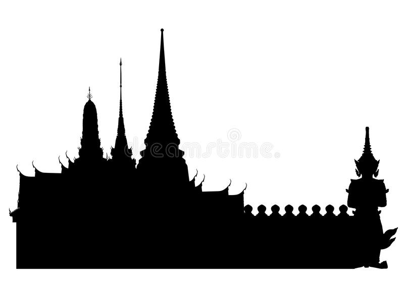 Bangkok kunglig slott royaltyfri illustrationer