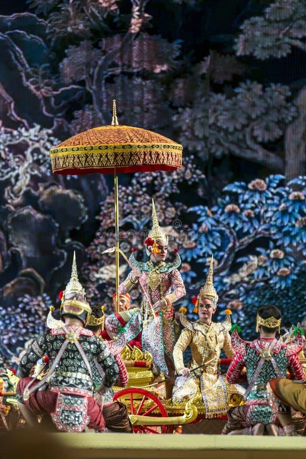 bangkok La Thaïlande - 13 décembre 2015, Khon est drame de danse de Tha images libres de droits