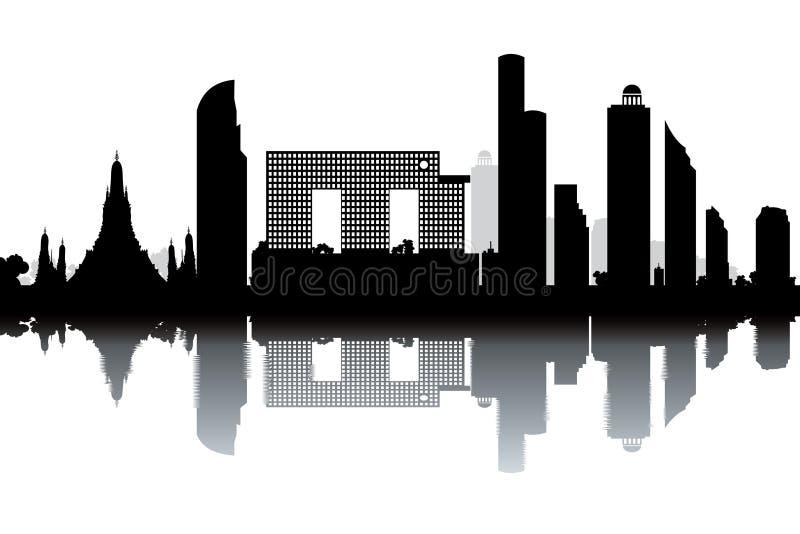 Bangkok linia horyzontu ilustracji