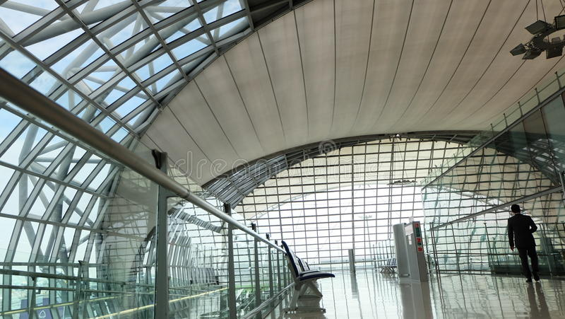 Bangkok lotnisko międzynarodowe & x28; Suvarnabhumi& x29; zdjęcie royalty free