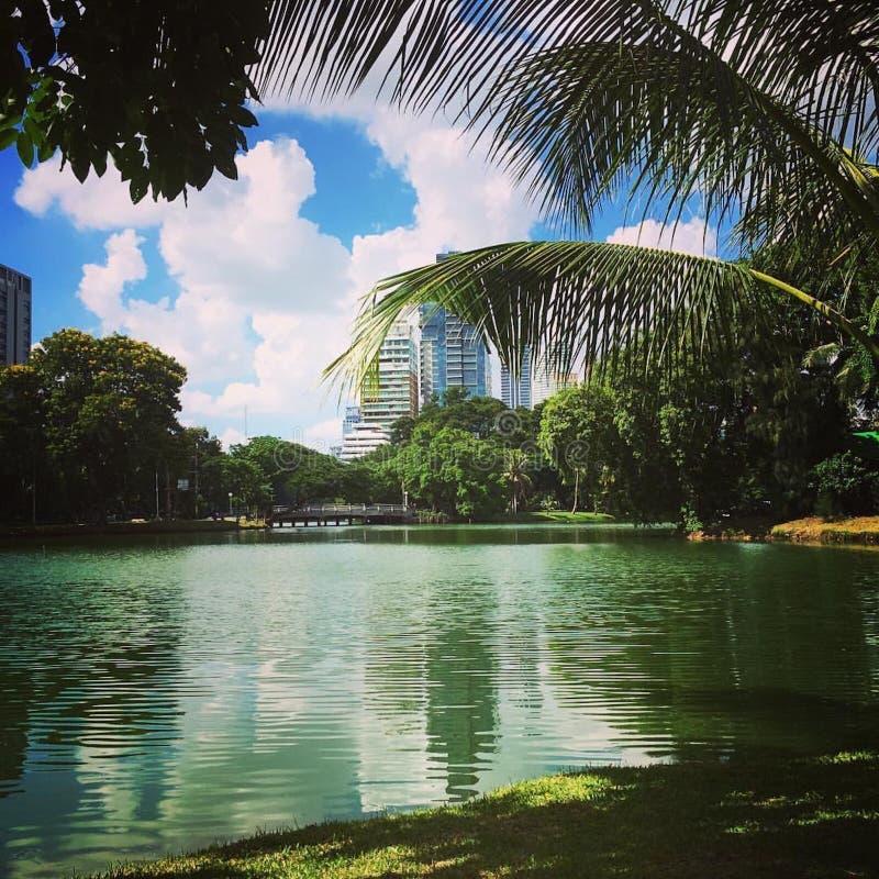 bangkok lumphini park obraz stock