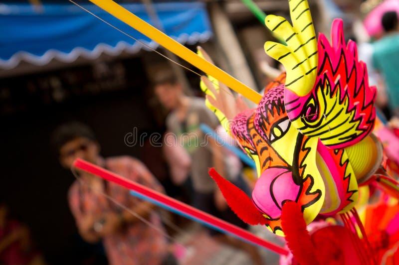 BANGKOK, - LUTY 10: Chiński nowy rok 2013 - świętowania wewnątrz zdjęcia royalty free