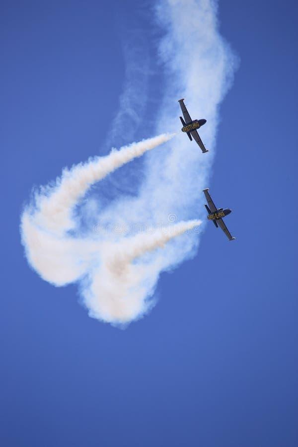 Das akrobatische Team Breitling Jet-Team führen durch lizenzfreies stockbild