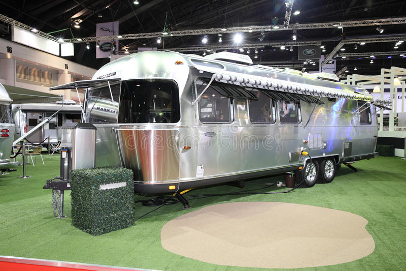 BANGKOK - MARCH 24: Airstream Classic car on display at The 36 royalty free stock images