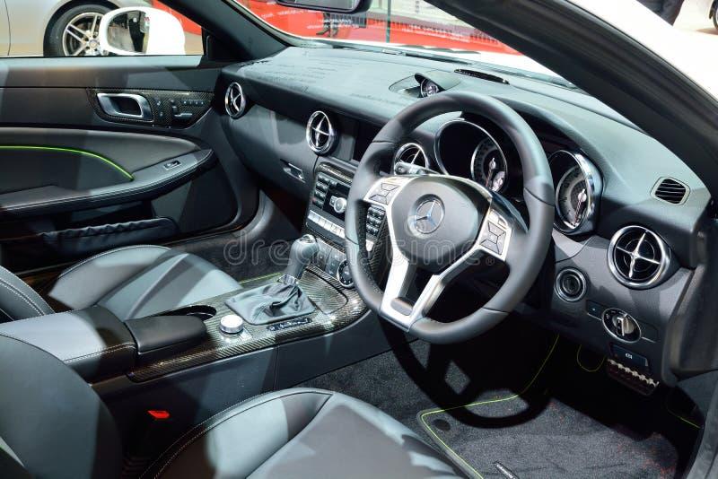 BANGKOK - March 26 : Interior design of Mercedes Benz SLK 200 Ca. Rbon Look on DisPlay at 36th Bangkok International Motor Show on March 26, 2015 in Bangkok stock image