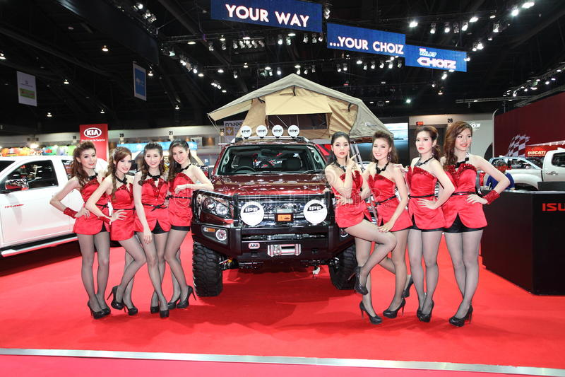 BANGKOK - MARCH 26 : ISUZU Car With Unidentified Model On Display At The 34th Bangkok International Motor Show 2013 On March 26, 2 Editorial Stock Image