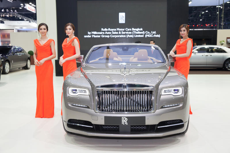 BANGKOK - MARCH 22: Roll Royce car with Unidentified models on d stock photo