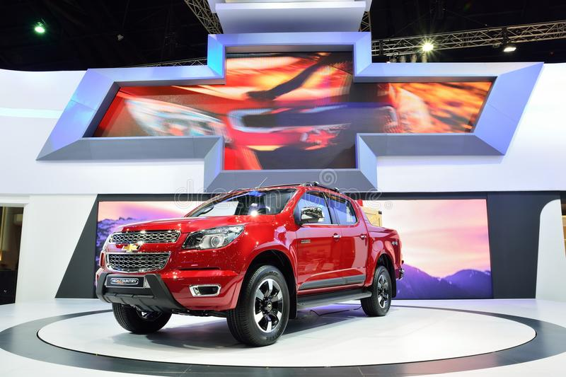 BANGKOK - 26 mars : Nouveau haut pays de Chevrolet le Colorado, 4WD pi photo stock