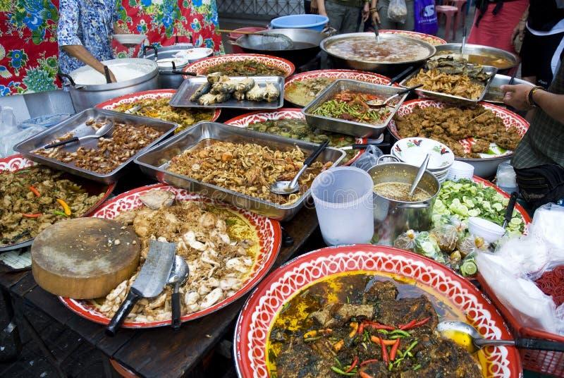 bangkok matgata thai thailand arkivfoton