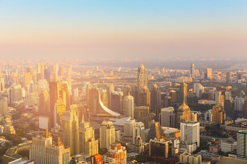 Bangkok miasta środkowy biznesowy w centrum budynek obrazy stock