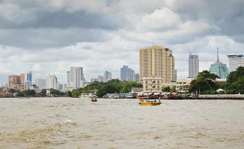 Bangkok. Modern buildings and river in Bangkok stock photos
